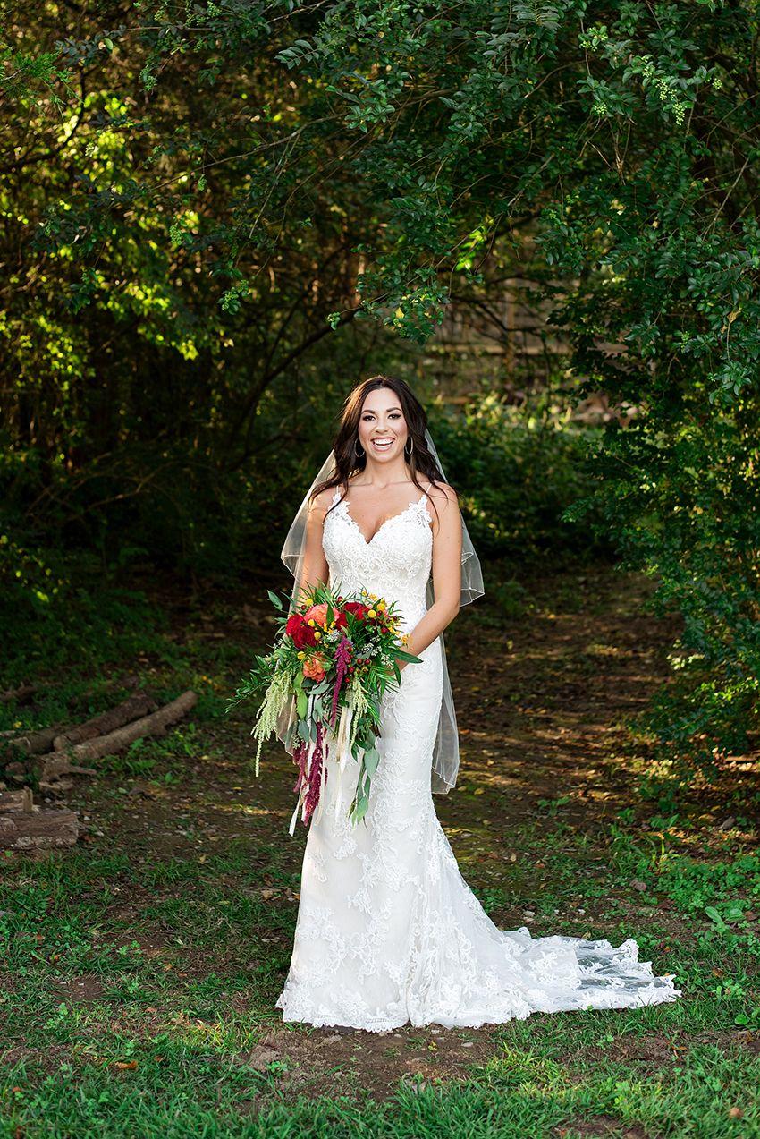 Nature wedding dress  Bohemian Glam Nature Wedding Featuring Lace Wedding Dress Style