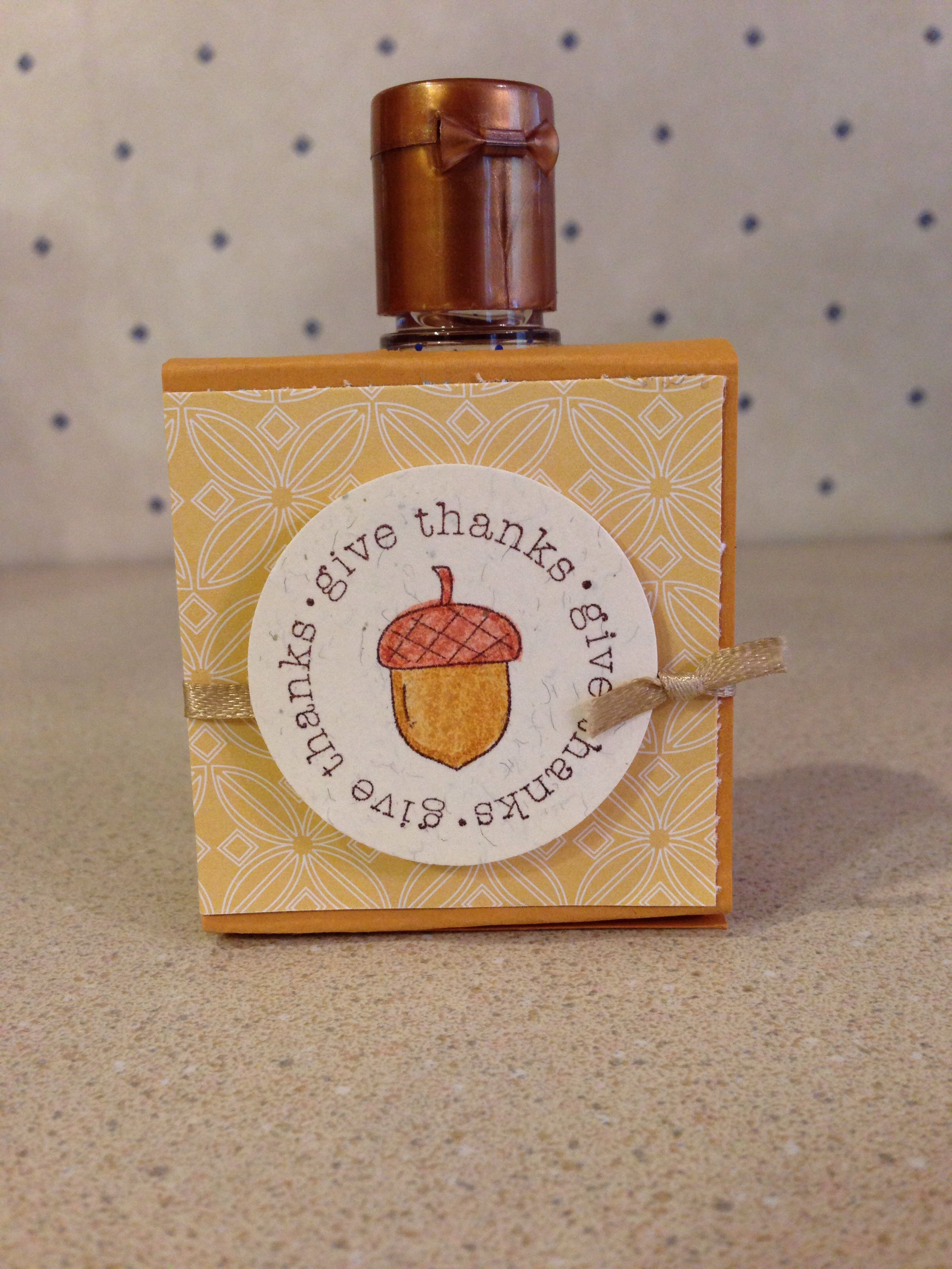 Fun Little Hand Sanitizer Holder Made With Stampin Up Supplies For