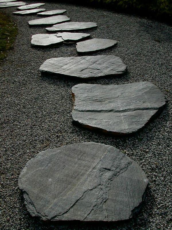 Gartengestaltung mit Steinen verkörpert die Ewigkeit Schiefer - garten mit steinen dekorieren