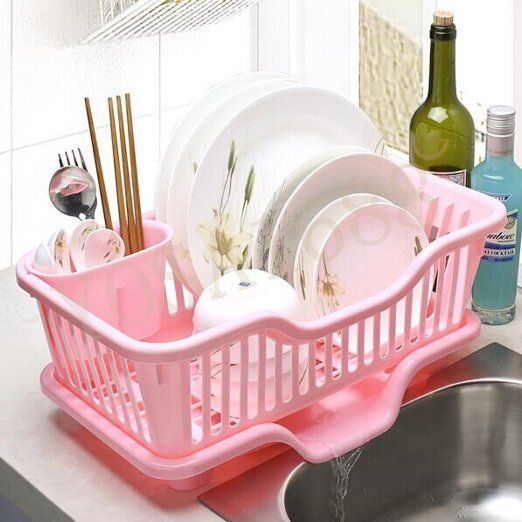 yosa uk kche sple das wasser rack drip schalen aufbewahrung halter rack regal geschirrkorb set - Kuche In Pink