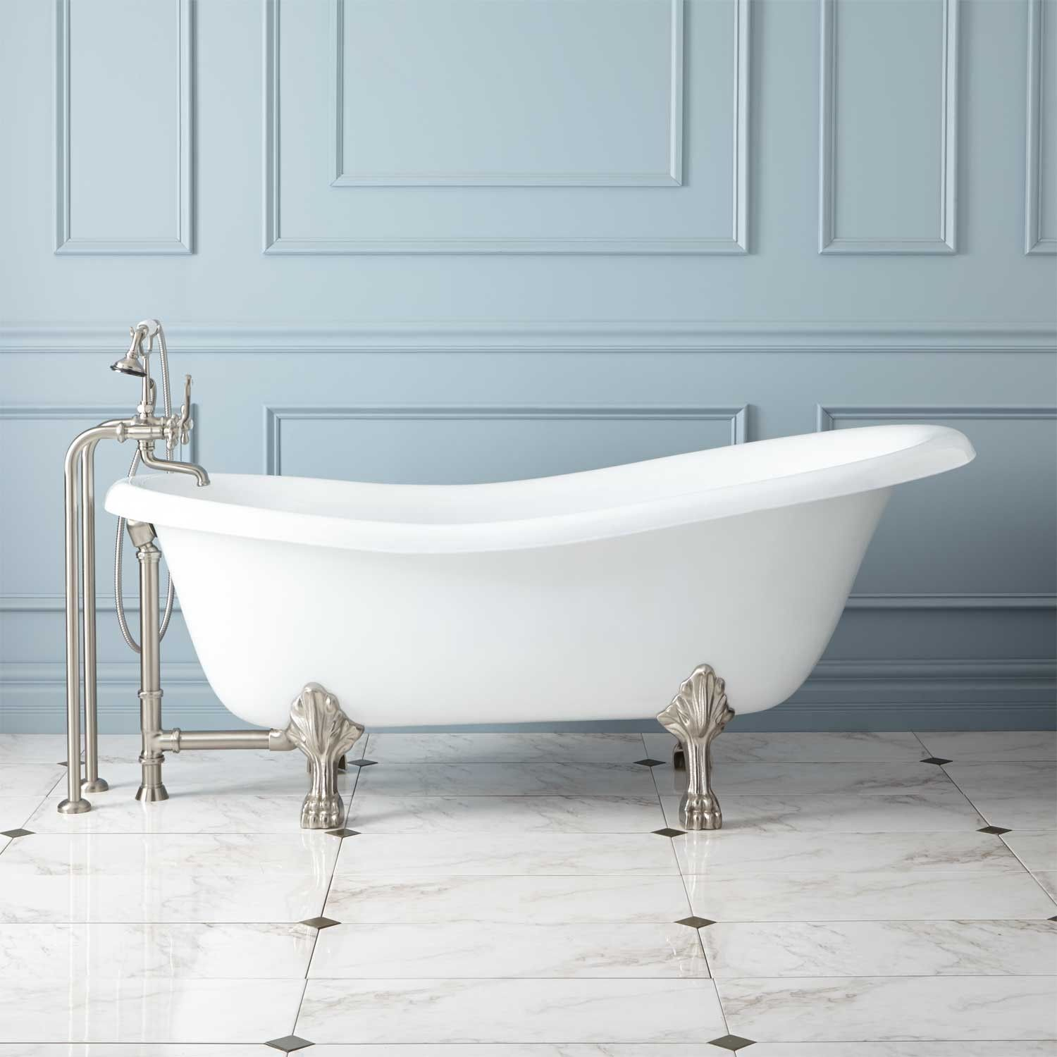 67 Quot Manhattan Cast Iron Clawfoot Tub In No Faucet Holes In