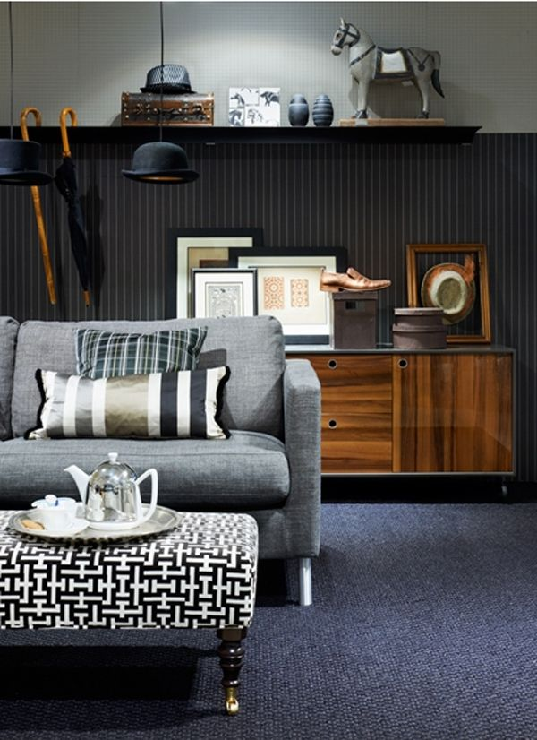 salon gris noir marron d e c o g r e y chambre jeune salon gris et deco. Black Bedroom Furniture Sets. Home Design Ideas