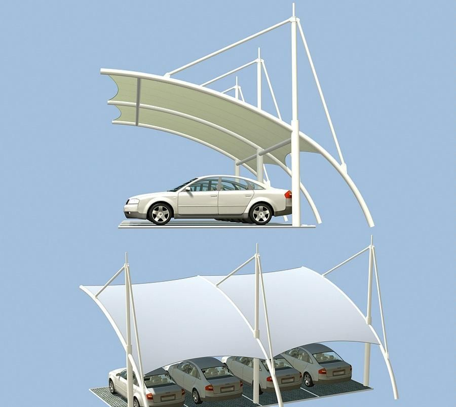 Tensile Membrane Structure For Carport Car Parking Roof