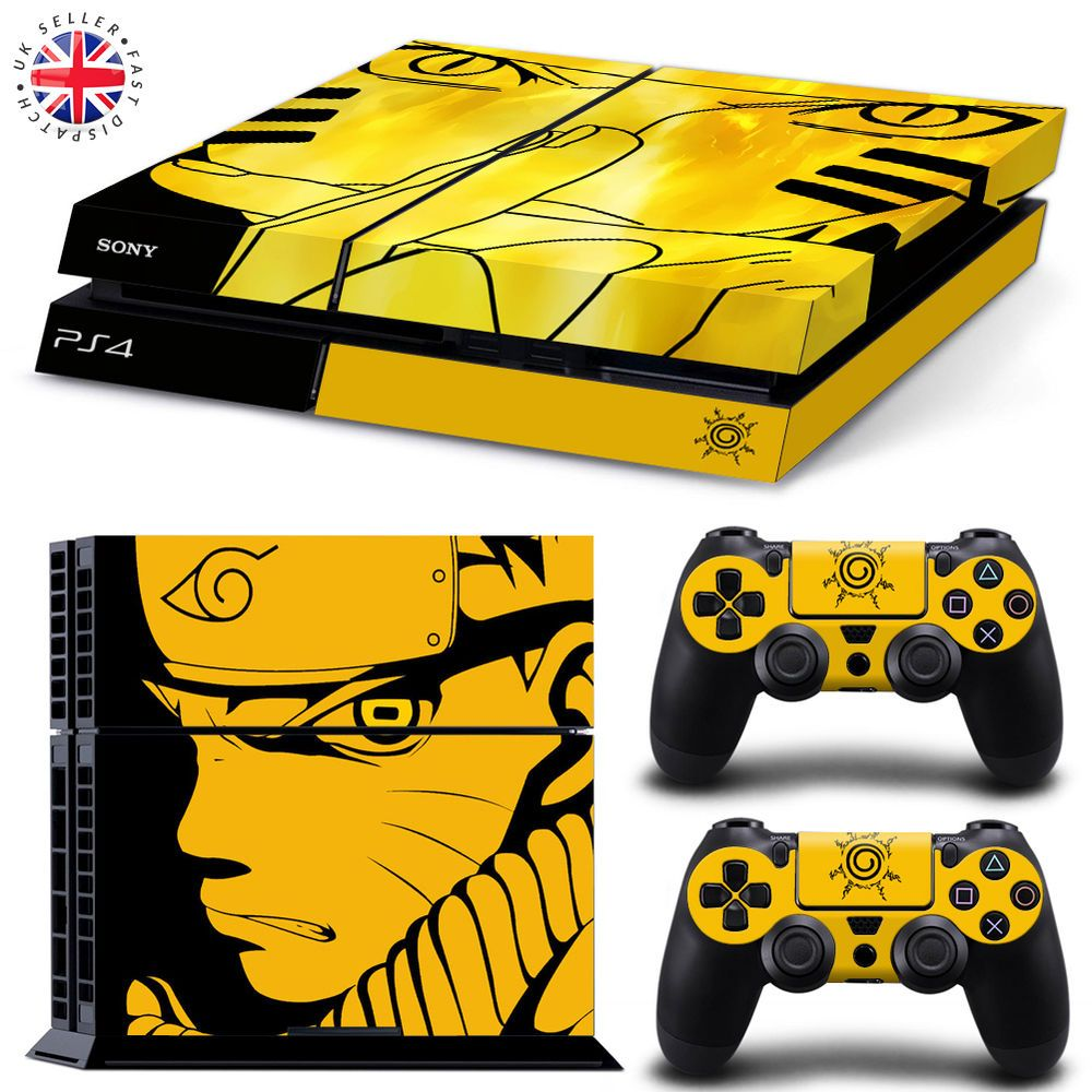 Naruto ps4 playstation 4 wrap skin sticker console 2