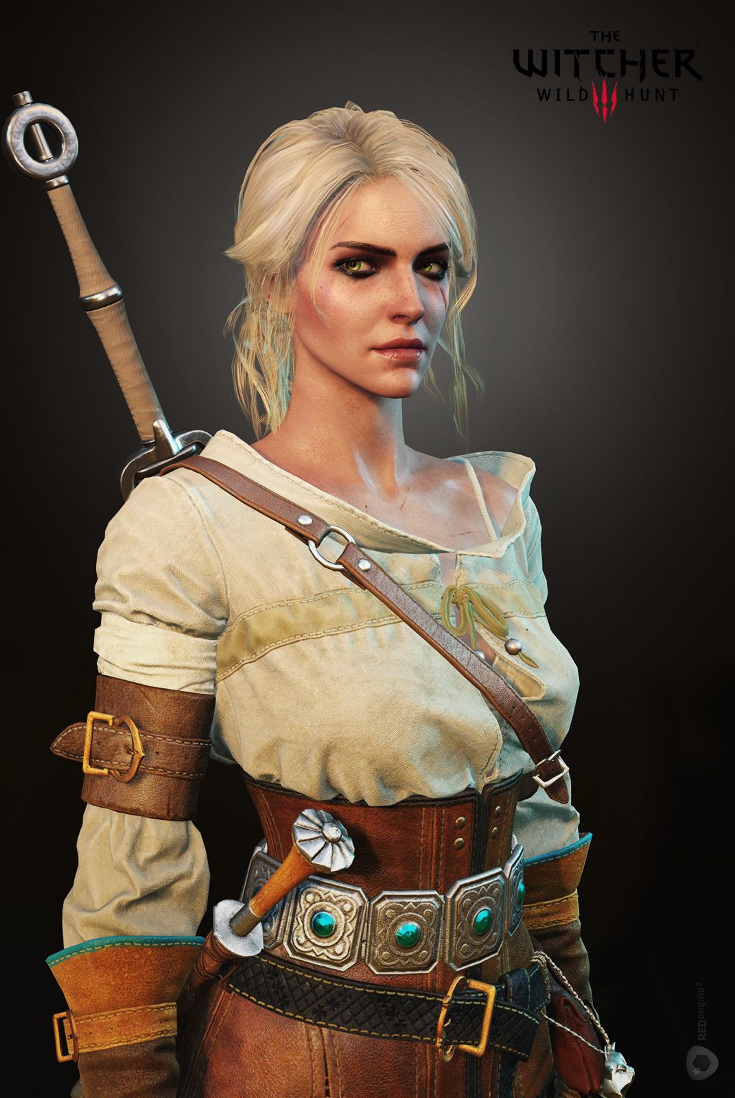 Ciri Face I Did For The Witcher 3 Lowpoly Hair Was Created By Bill Daly