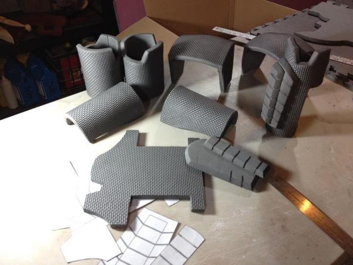 N7 Armor Step 1 The Nerd Curve Foam Armor Eva Foam