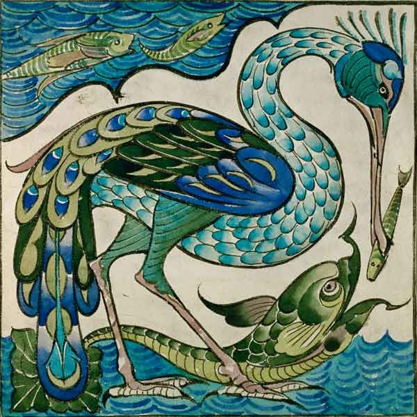 A Tile Designed By Walter Crane (1845-1915). Ideal Colors