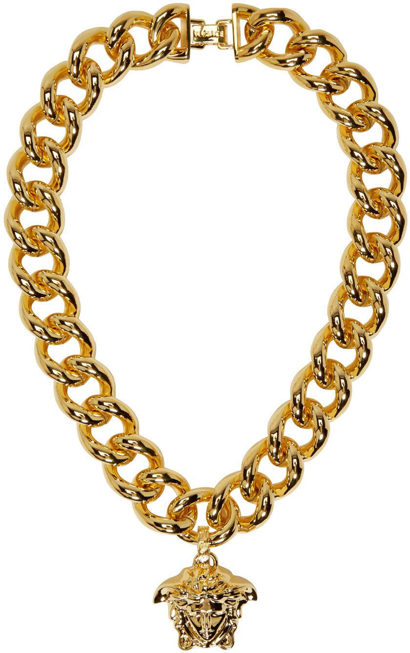 f999599d2846 Versace- Gold Thick Chain Medusa Necklace