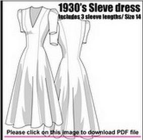 Pattern 1930s 1940s Longline Dress Free Pdf Pattern Vintage Sewing Patterns Pattern Dress Women Dress Patterns Free