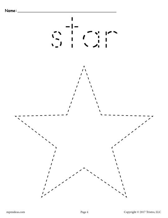 12 Shapes Tracing Worksheets | Pinterest