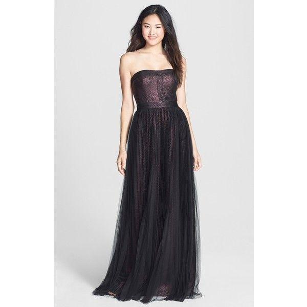 Petite Adrianna Papell Shimmer Jacquard Gown ($173) ❤ liked on ...