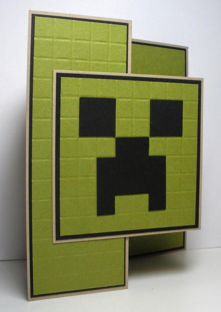Supplies Paper Crumb Cake Old Olive Black White Grey Dark Grey Brown Accessories Score Boa Minecraft Birthday Card Minecraft Birthday Minecraft Cards