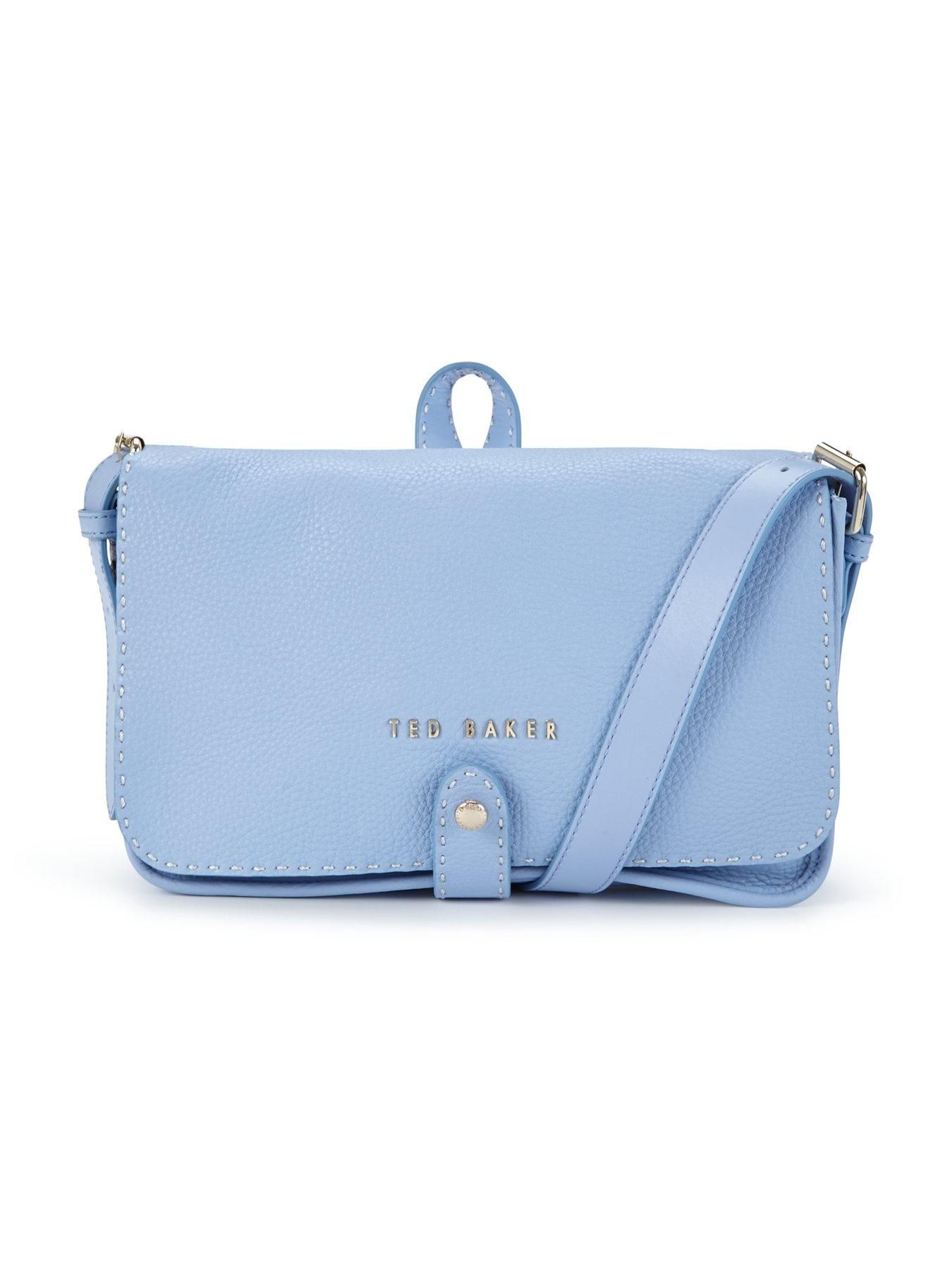 Textured Leather Cross Body Purse Bag - Pale blue Ted Baker IrLlE