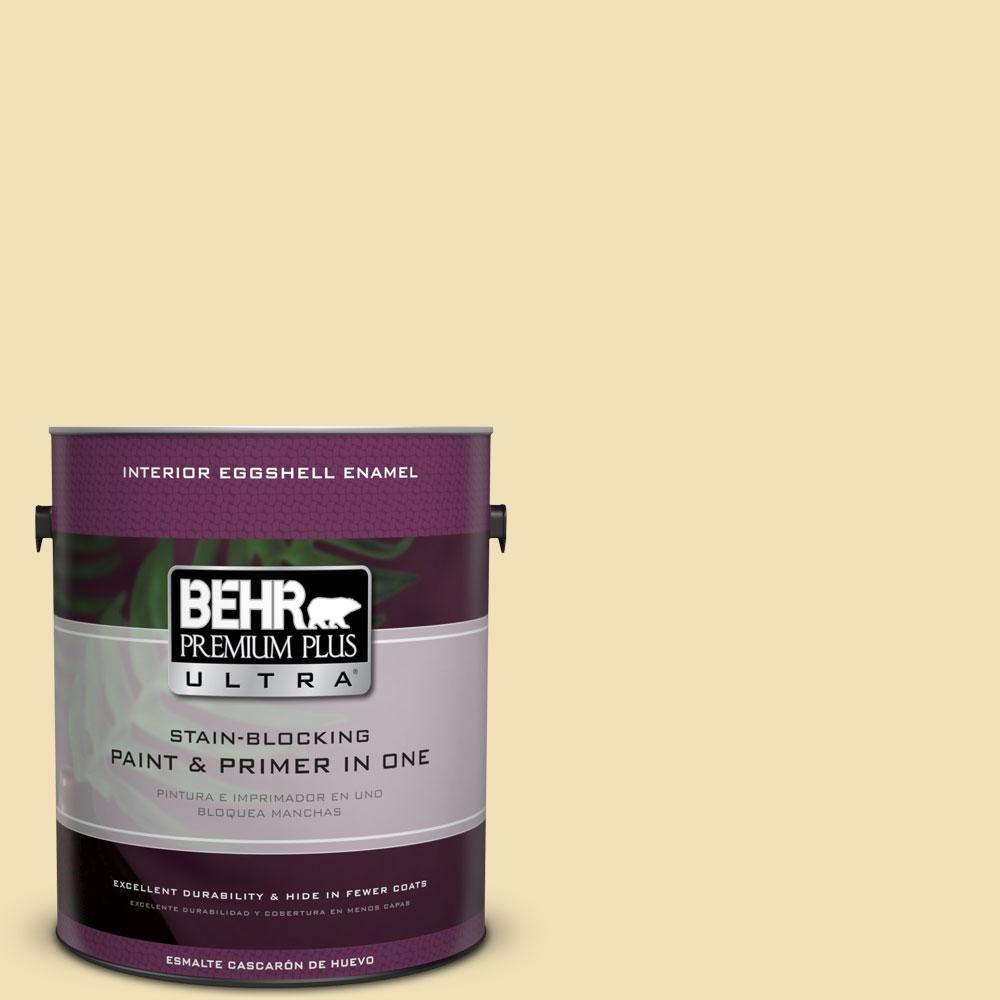 BEHR Premium Plus Ultra 1-Gal. #PPU6-12 Calla Eggshell Enamel Interior Paint