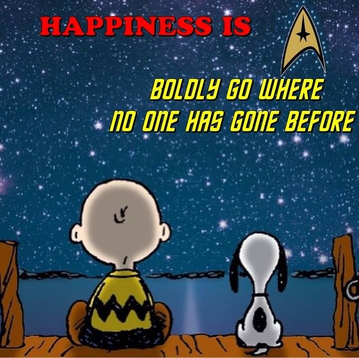 StarTrek: Charlie Brown and Snoopy dream of Boldly going