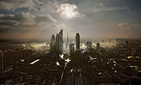 A remarkable photo of the City of London - and an interesting article about Trollope and current novelists.