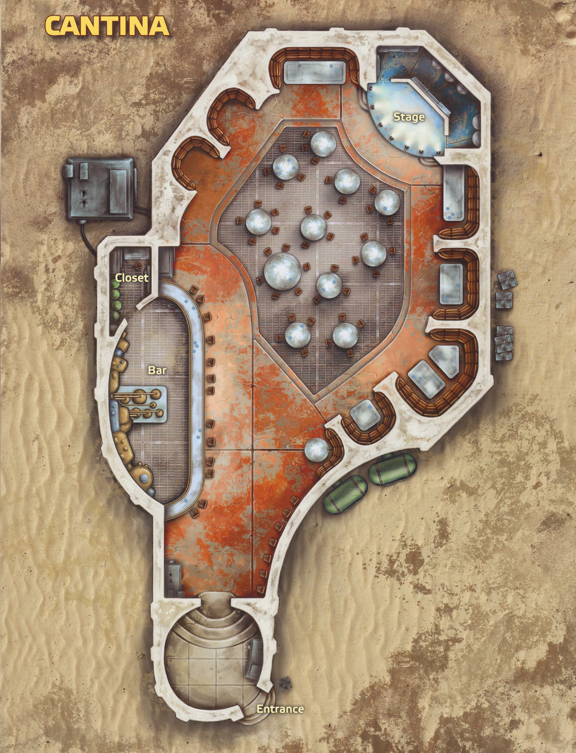 Mos Shuuta Cantina Small Game Maps Modern And Sci Fi Star Wars