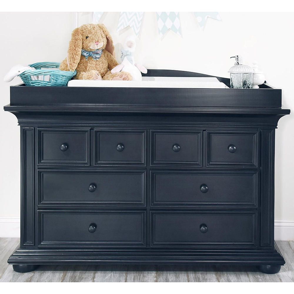 This Oxford Baby Harlow 6 Drawer Dresser In Midnight Slate Finish Has Tall Deep Drawers