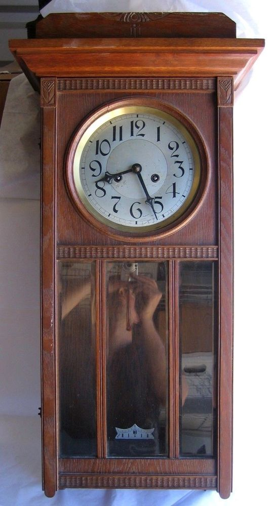 34995 Vtg Lenzkirch Wall Clock Number 329 Austrian Wooden Hanging