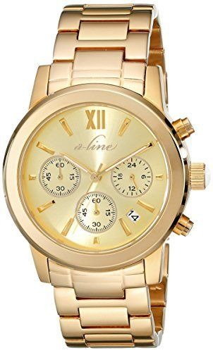 a_line Women's AL-80597-YG-10 Sophi Chic Analog Display Japanese Quartz Gold Watch $495 $54.99