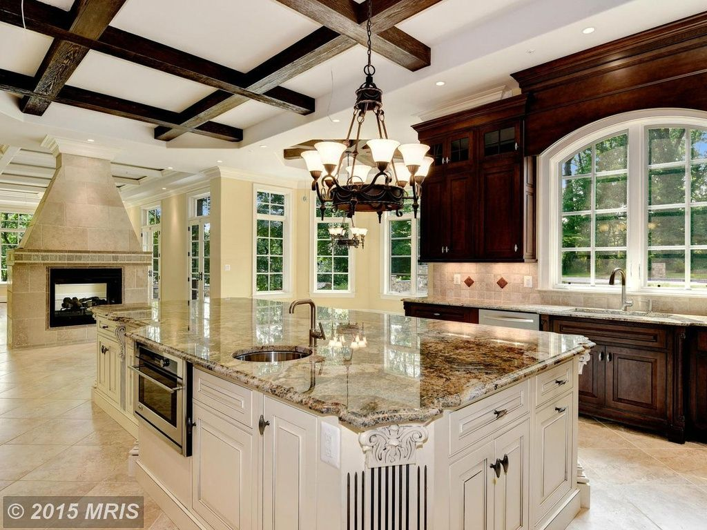 Great Traditional Kitchen With Columns U0026 Complex Granite Counters In  BETHESDA, MD