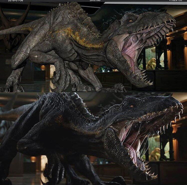 Making of the Indoraptor Jurassic world dinosaurs, Blue