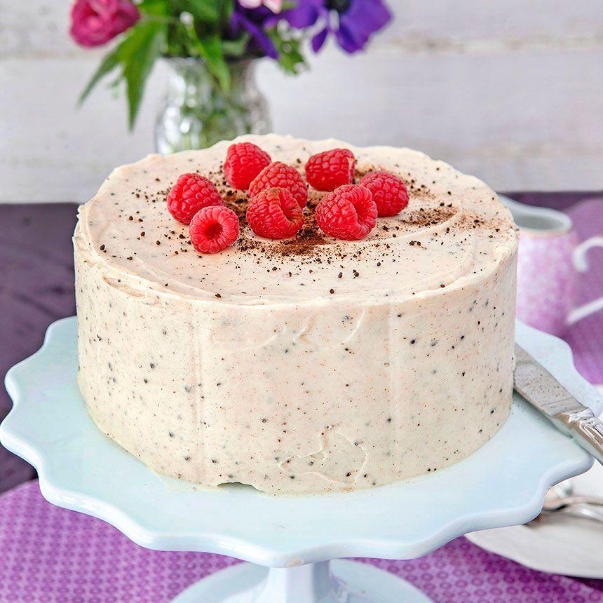 recept hallon lakrits tårta