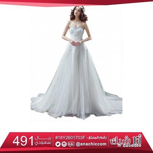 تألقي كالأميرة في ليلة زفافك فستان زفاف بلا حمالات مطرز و مزين ب شيفون طبقات متجر أناشيك فساتين موض Dresses Wedding Dresses Sleeveless Wedding Dress