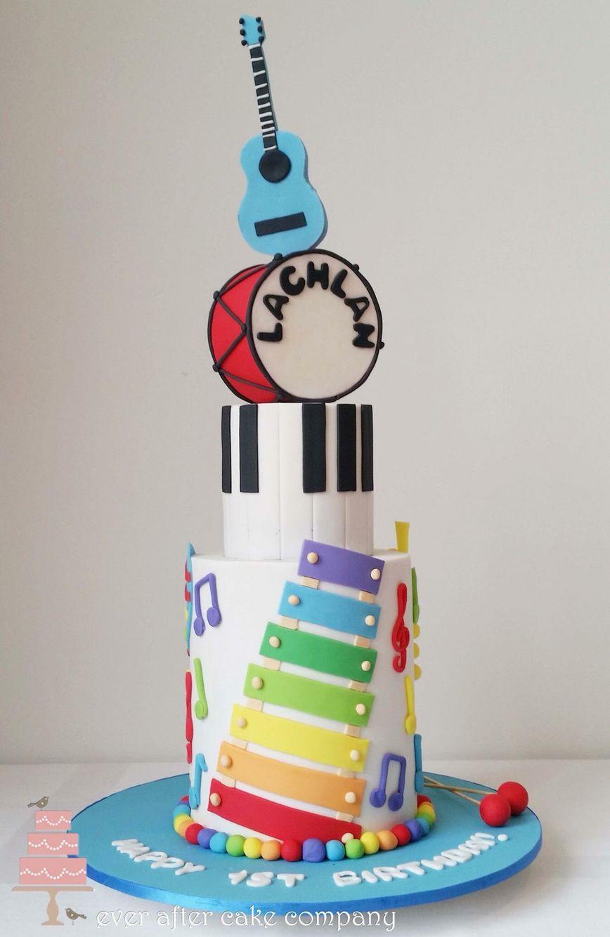 Awe Inspiring Kids Musical Instruments Cake With Images Music Birthday Cakes Birthday Cards Printable Benkemecafe Filternl