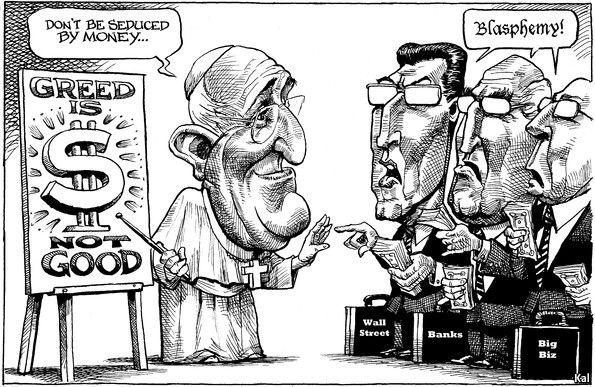 Kal S Pope Francis Cartoon The Economist Catholic Humor
