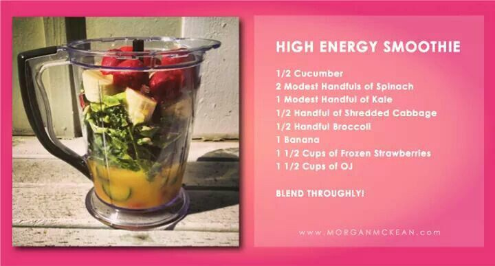 High energy smoothie