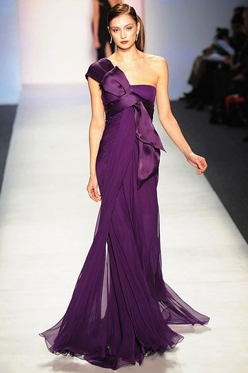 Day 6: Purple Passion Picture of the Day. September is Gynecologic Cancer Awareness Month. Gorgeous purple evening gown - Fashion Week. We donate a portion of every sale of #SmartPanties to benefit the educational & research efforts of the Foundation for Women's Cancer.