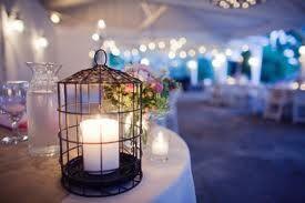 birdcage centre piece wedding