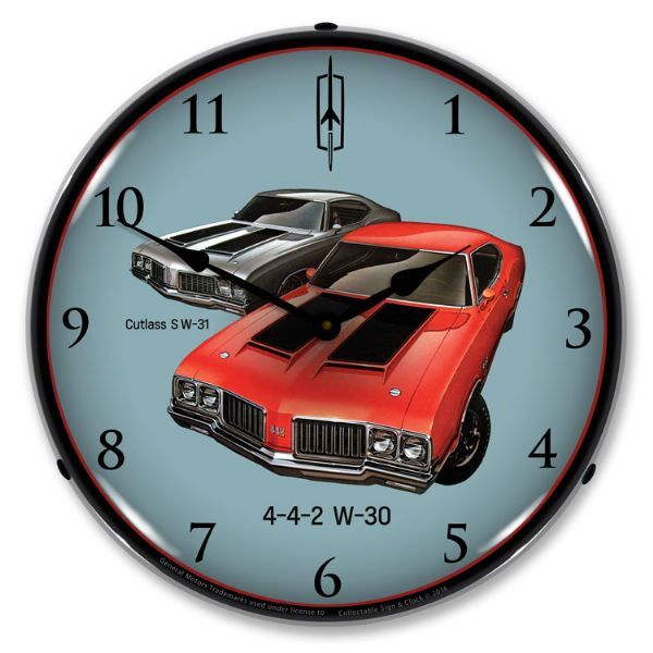 Led 1970 Oldsmobile 442 And Cutlass 14 Backlit Lighted Etsy In 2020 Wall Clock Light Wall Clock Clock