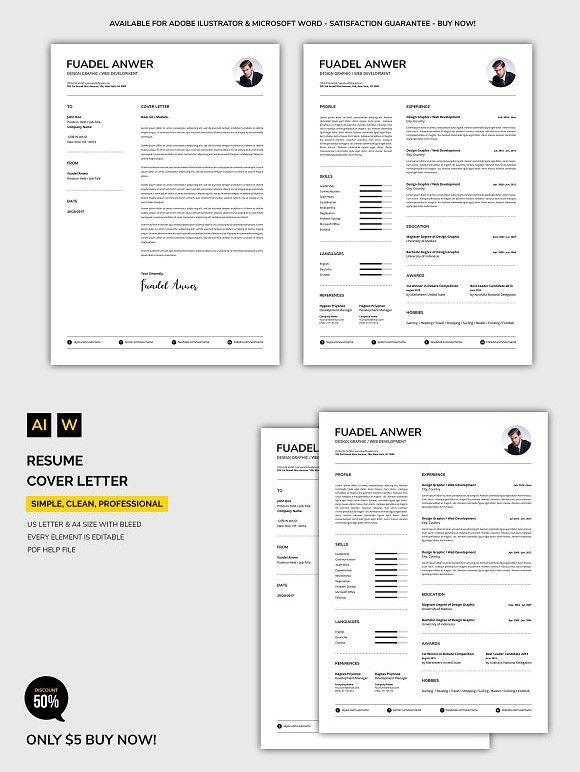 resume    cover letter