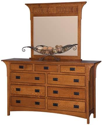 We Custom Make Every Item And You Can Get The Deluxe Mission Dresser W Mirror In Q S White Oak With Any Wood