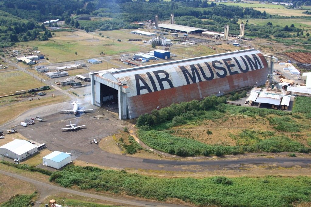 Oregon's Tillamook Air Museum, housed in Hanger B, a