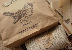 Bird packages using bird stamps.