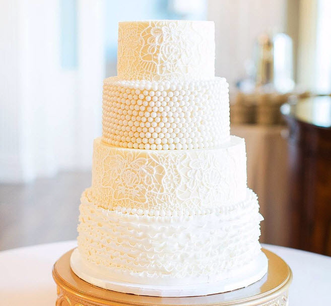 Elegant Wedding Cake By Croissants Bistro And Bakery Beach Myrtle South