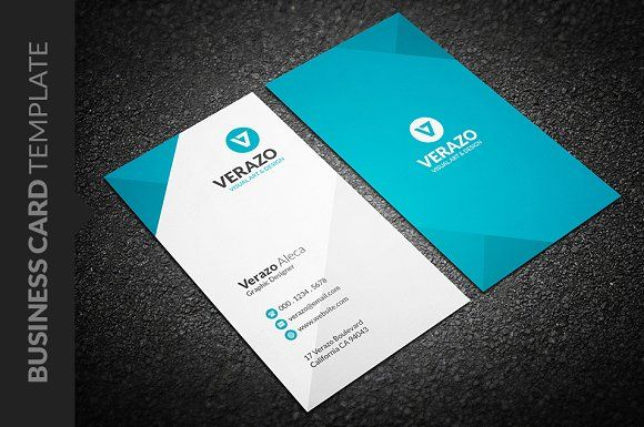 Clean Vertical Business Card Vertical Business Cards Business - Business card vertical template