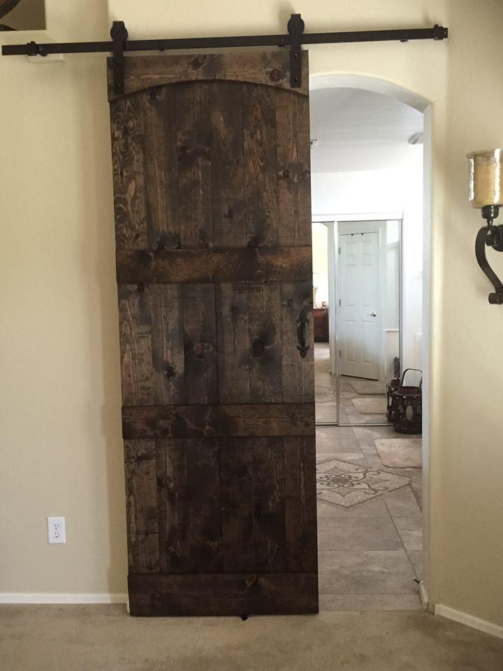 Dark Walnut Stain On Pine Door