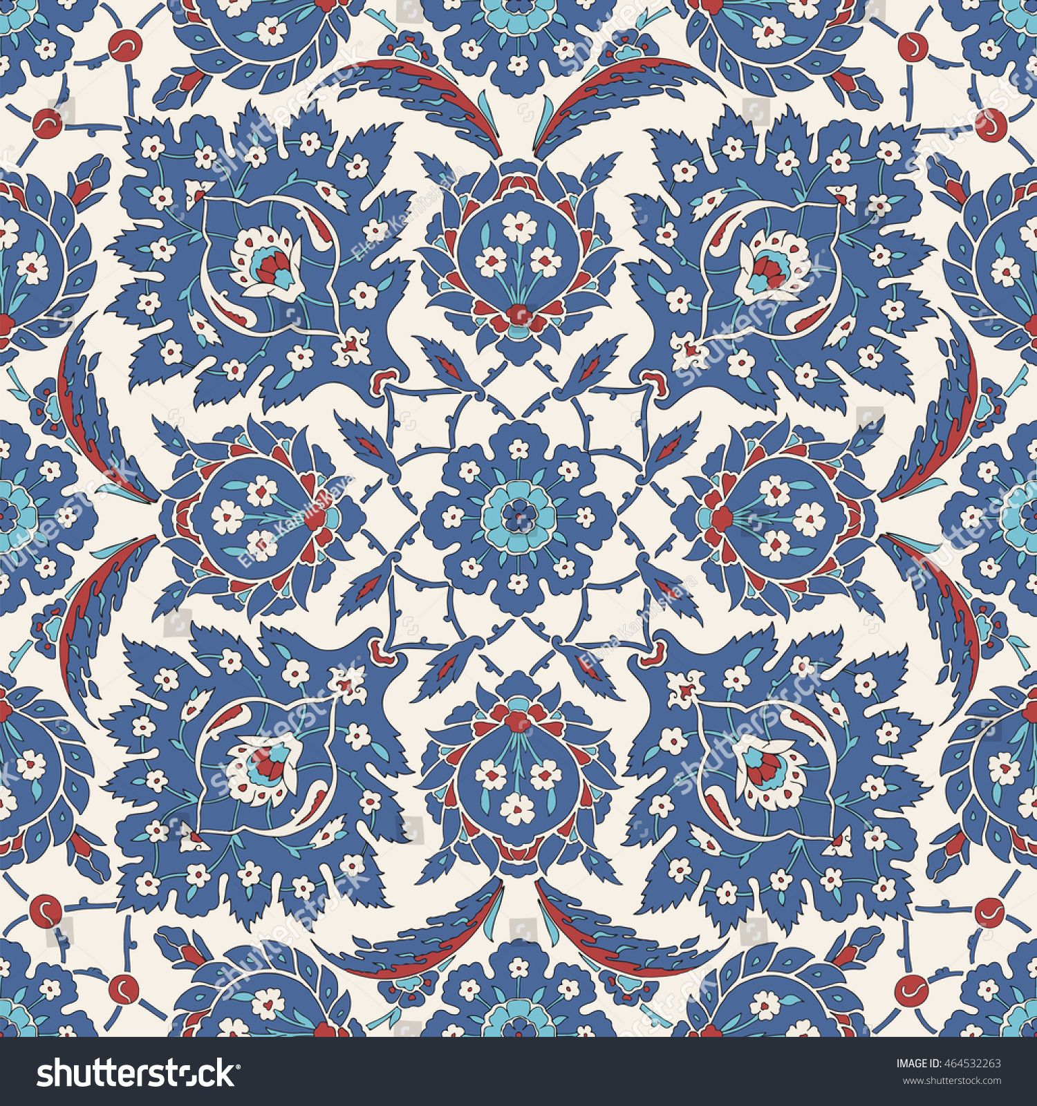 Traditional Arabic ornament seamless for your design. Floral ...