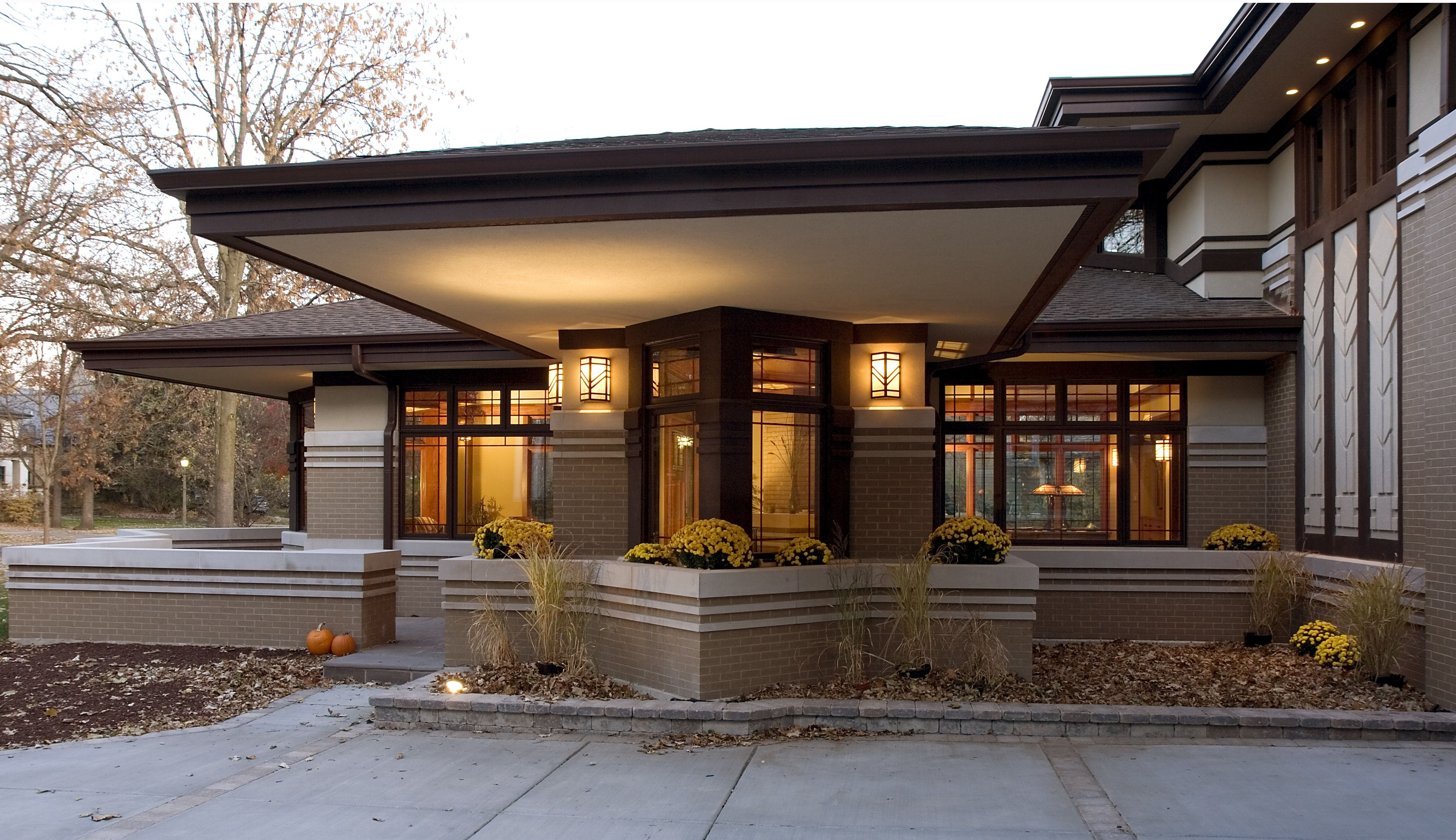 Frank Lloyd Wright Inspired Cantilever Prairie Style Houses Prairie Style Architecture Prarie Style Homes
