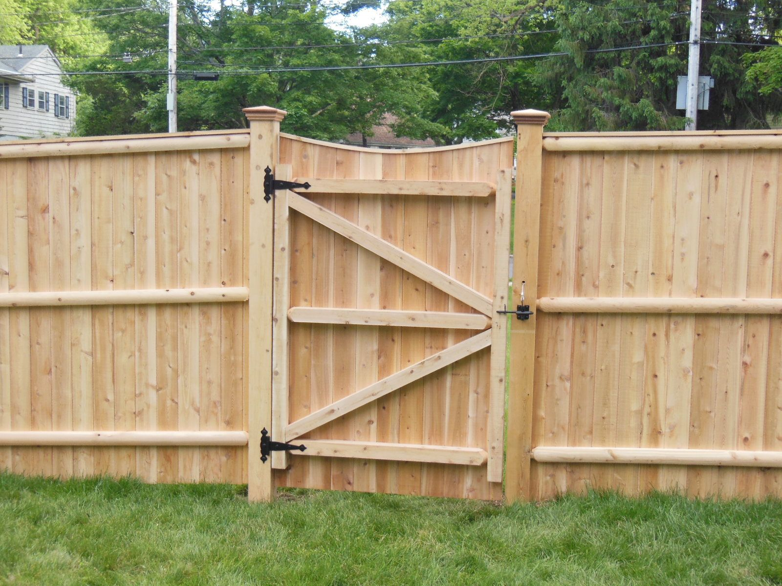 Fence gate designs cedar lattice with gate fences Wood garden fence designs