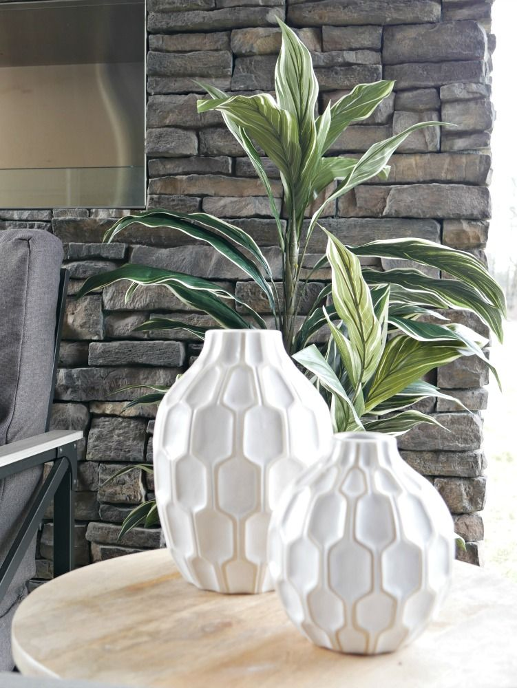 Black And White Outdoor Decor Black And White Vase Outdoor