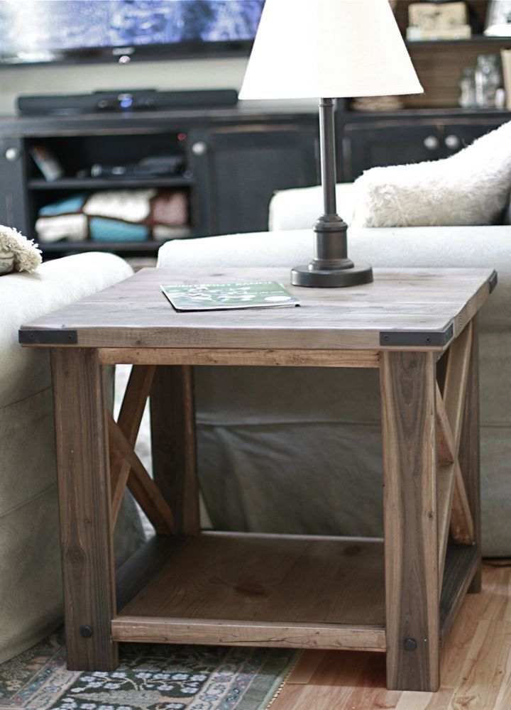 Rustic X End Tables To Match The Coffee Table And Console
