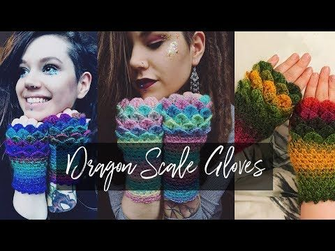 How to Crocodile knit ENGLISH Scale Stitch Tutorial Free Online ...