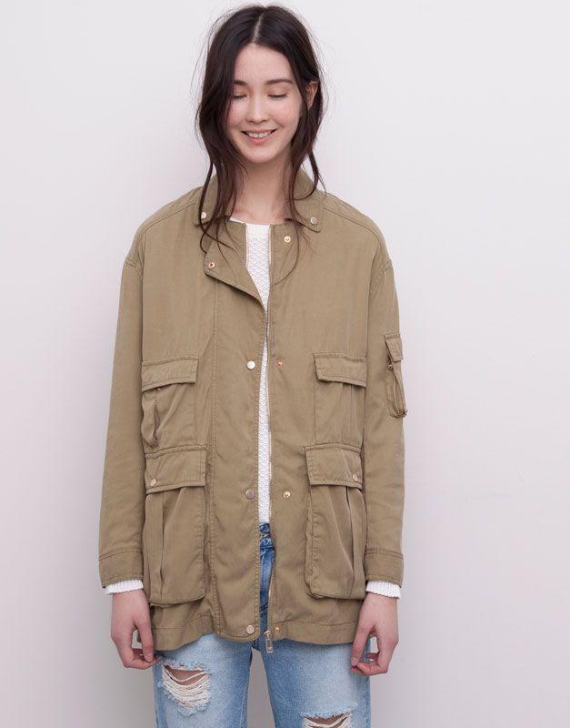 c16e1e33 :4 OUTER POCKETS SAFARI JACKET Safari Jacket, Winter Sale, Pull & Bear,
