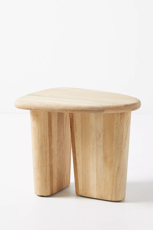 Kalle Sculptural Oak Side Table Anthropologie In 2020 Oak Side Table Side Table Unique End Tables #oak #living #room #end #tables
