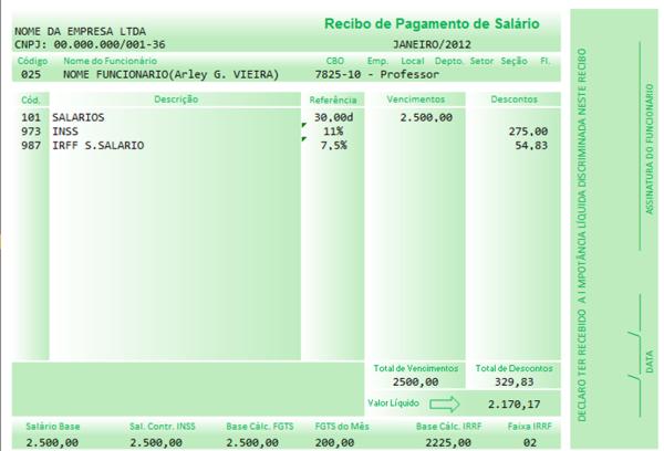 Recibo De Pagamento De Salario Online Simples Word Baixar